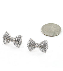 Crystal Baby Bow Earrings (More Colours Available)
