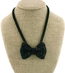 Adorable Tux Bow Necklace