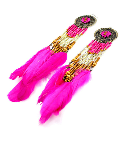 Bright Feather Earrings (More Colours Available)
