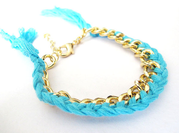 Braided Chain Bracelet (More Colours Available)