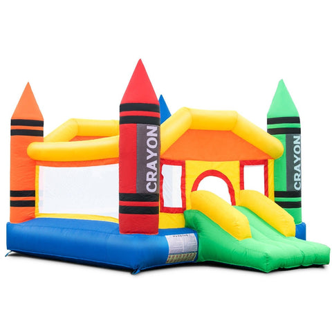 Inflatable Crayon Bounce House Castle and Blower