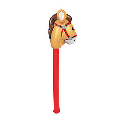 Yeehaw! Large Inflatable Horse Stick (1 Dozen)