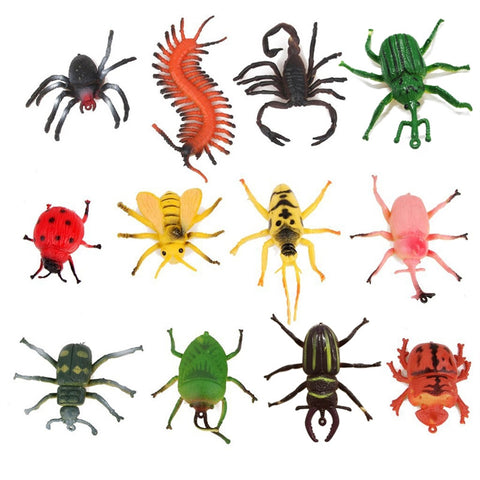 12pcs Children's Model Insect Toys Party Tricks