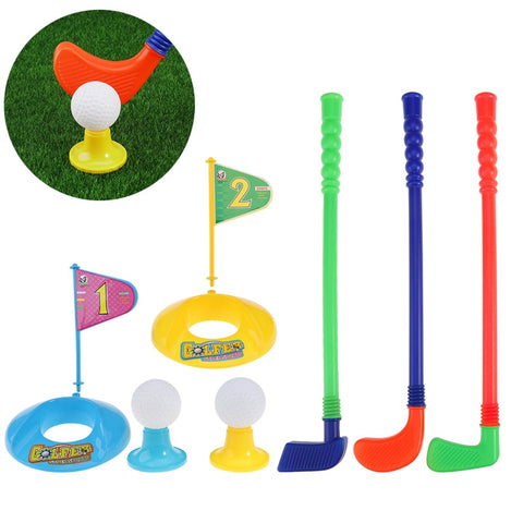 Children Kids Colorful Plastic Golf Toy Set