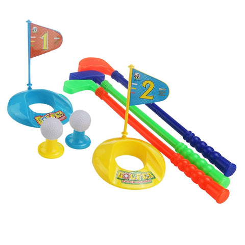 Children Kids Colorful Plastic Golfer Toy Golf Set