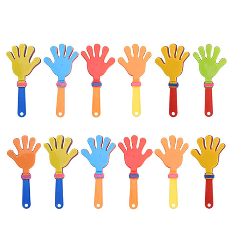 12pcs Plastic Hand Clappers Noisemakers Party Favors