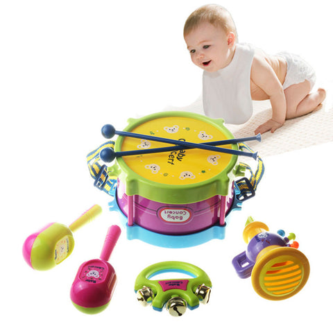 5Pcs Baby Kids Colorful Plastic Musical Education Instrument Toy Set