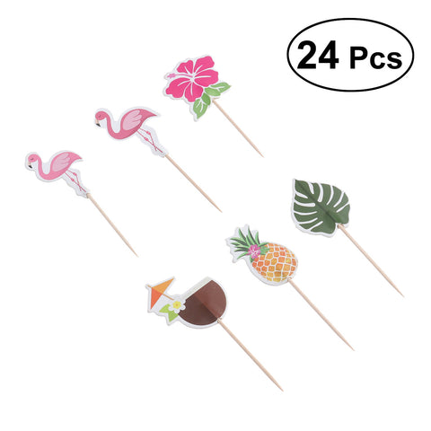 6pcs Hawaii Cake Toppers