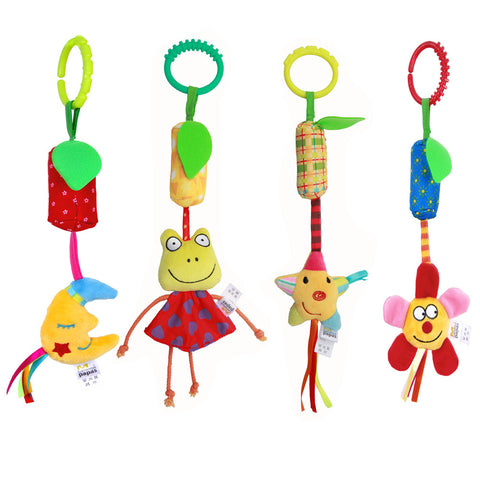 4pcs Infant Baby Rattle Toys