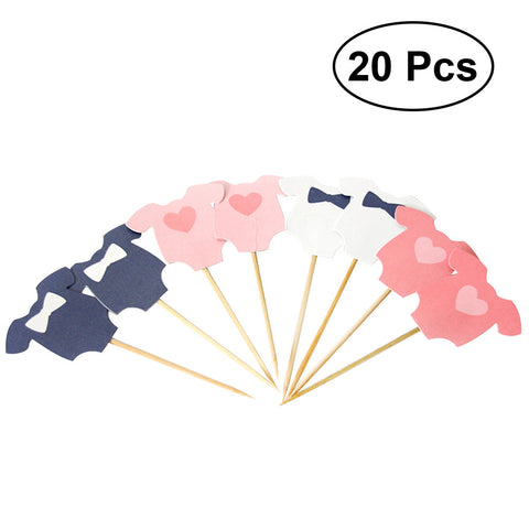 10Pc Clothes Birthday Cake Toppers