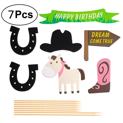 7pcs Themed Cake Decorations