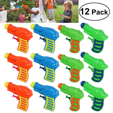 TOMMY TOY 12pcs Plastic Water Squirt Toy for Kids Watering Game (Random Color)