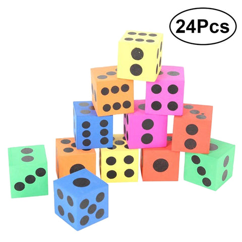 24pc Jumbo Foam  Dice