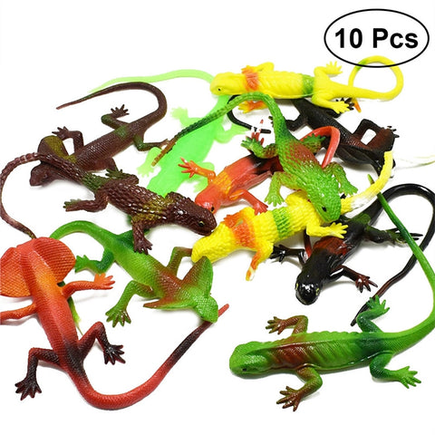 10pcs Simulation Plastic Lizard Figure Set Realistic Fun Toys