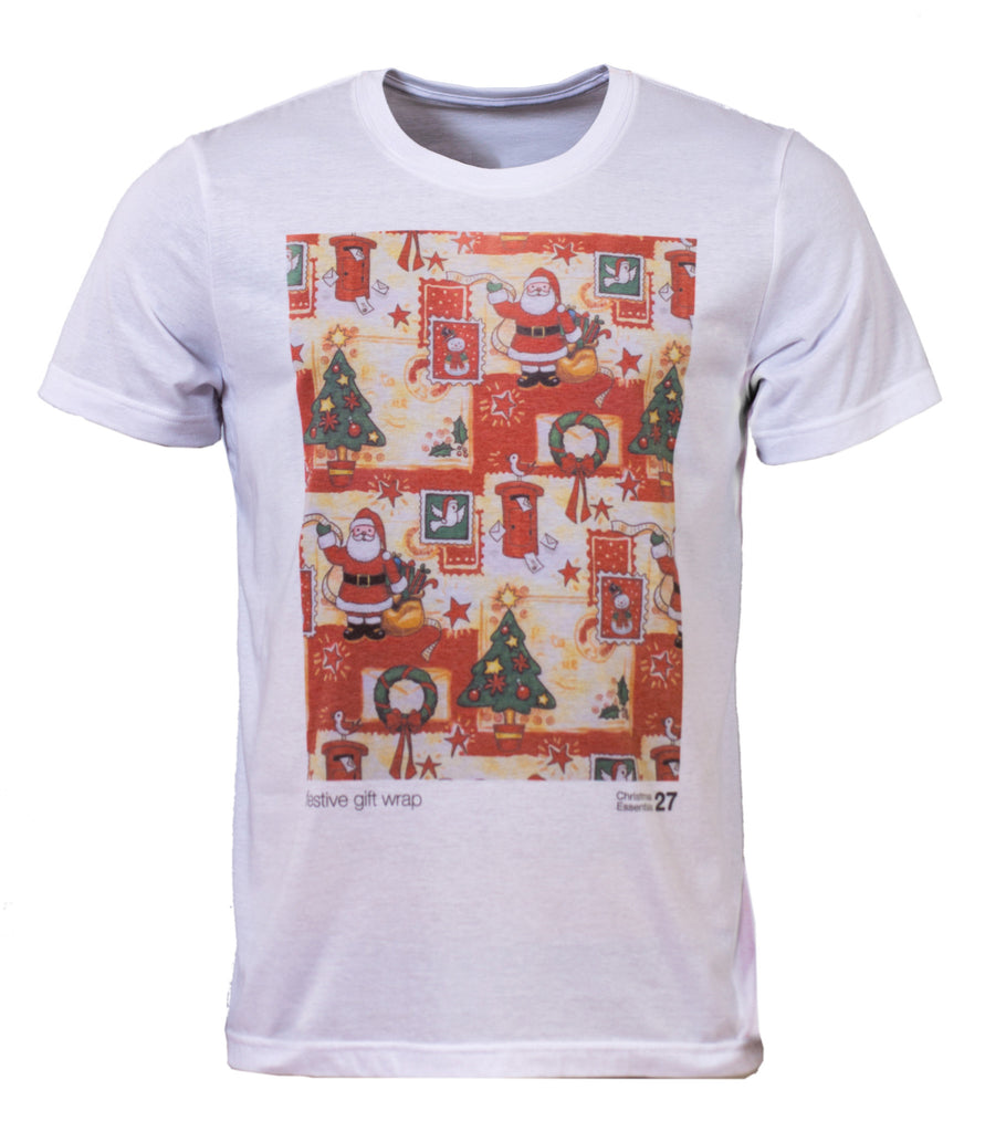 Mens Festive Gift Wrap T-shirt