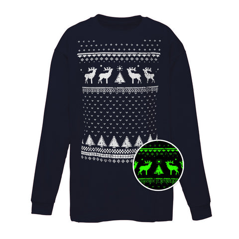 Children's Reindeer Glow in the Dark Long Sleeve Tee