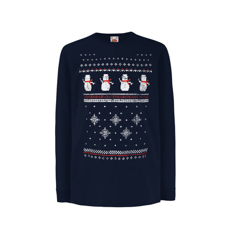 Children's Snowman Long Sleeve Tee