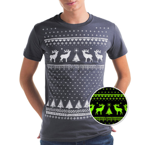 Mens Glow in the Dark Reindeer