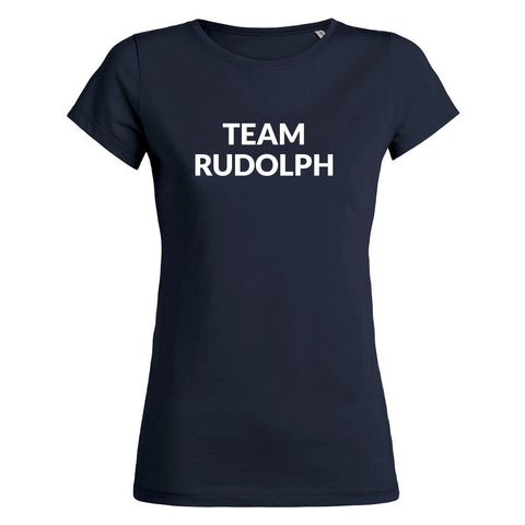 Womens Team Rudolph T-shirt - Navy