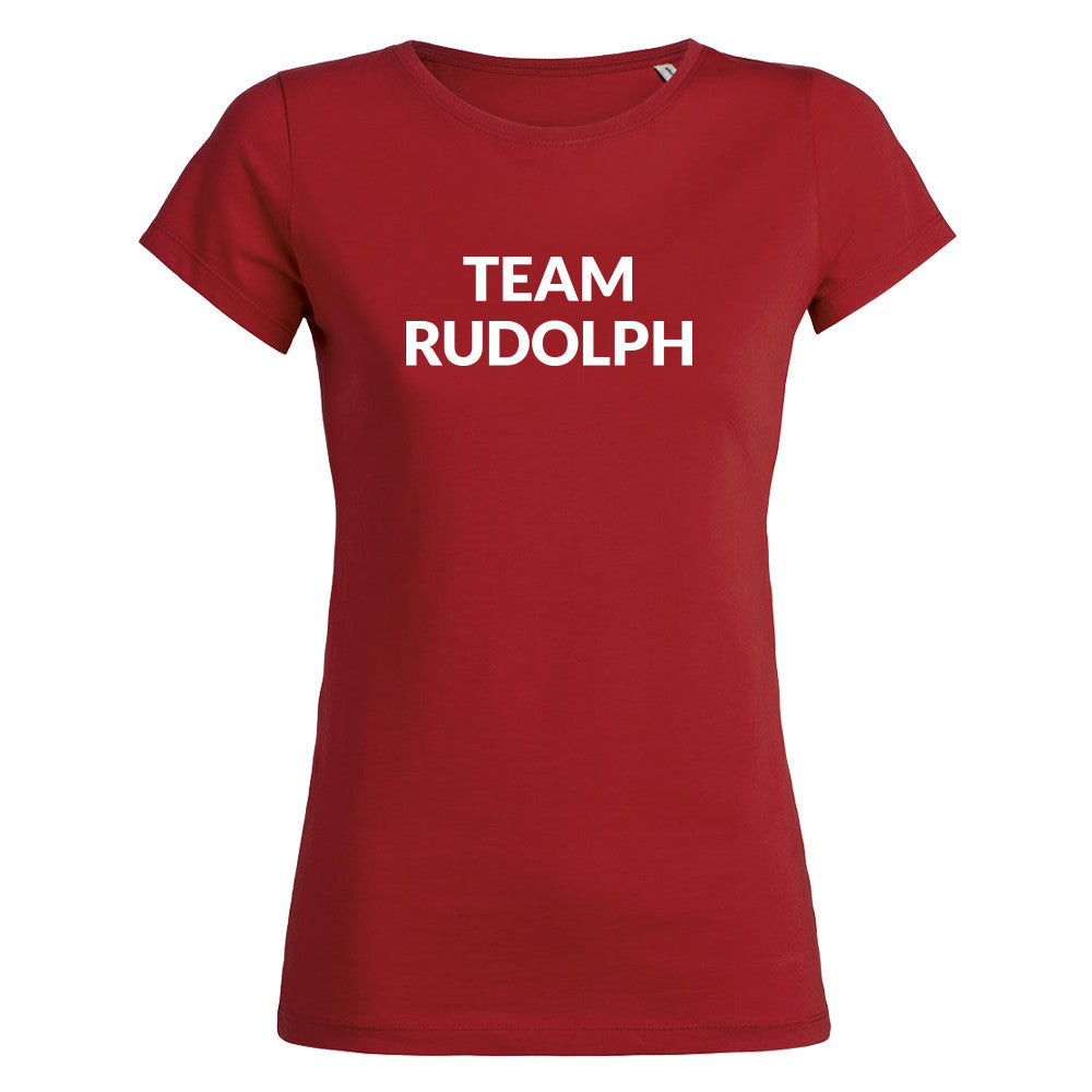 Womens Team Rudolph T-shirt - Red