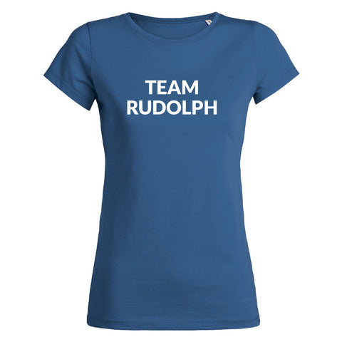 Womens Team Rudolph T-shirt - Royal Blue