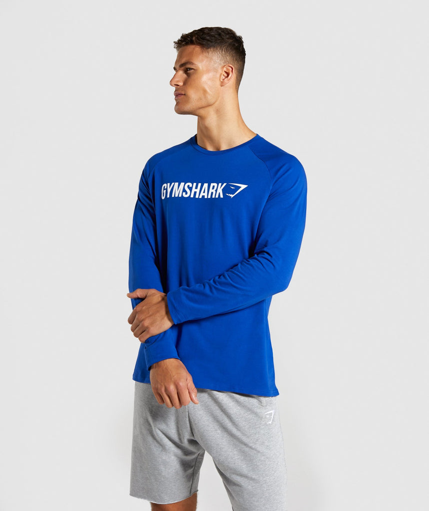 Gymshark Apollo Long Sleeve T-Shirt - Blue 1