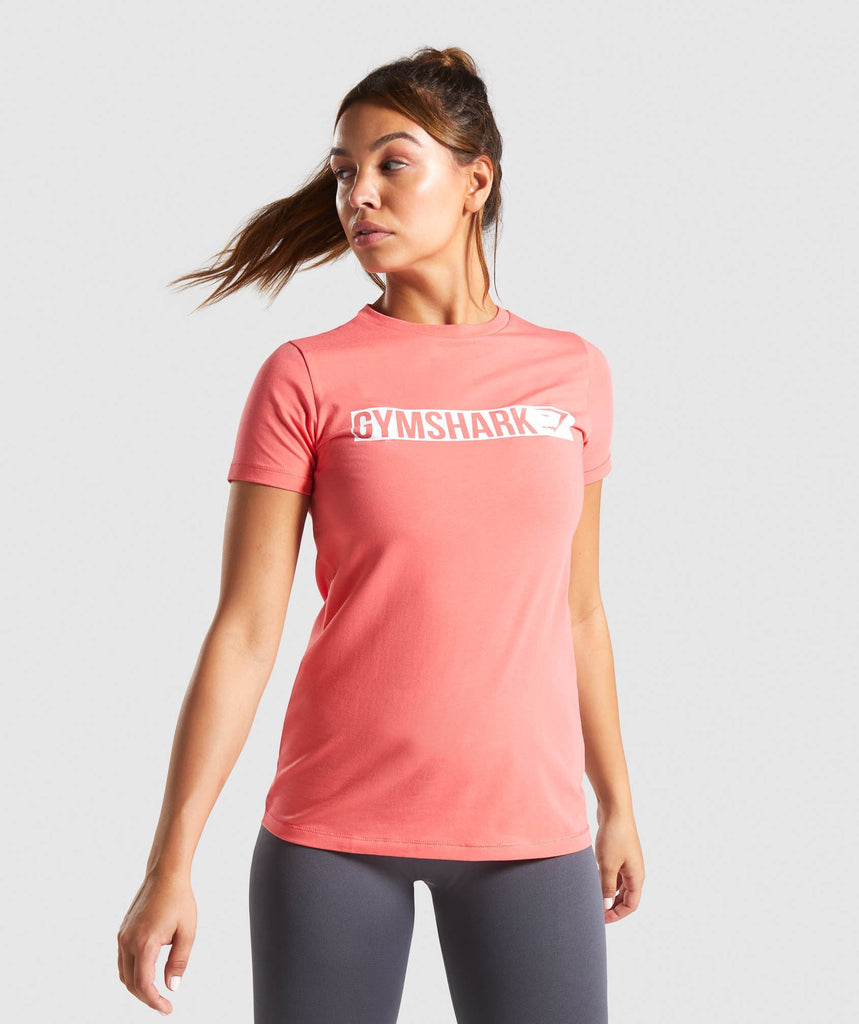 Gymshark Apollo T-Shirt - Coral 1