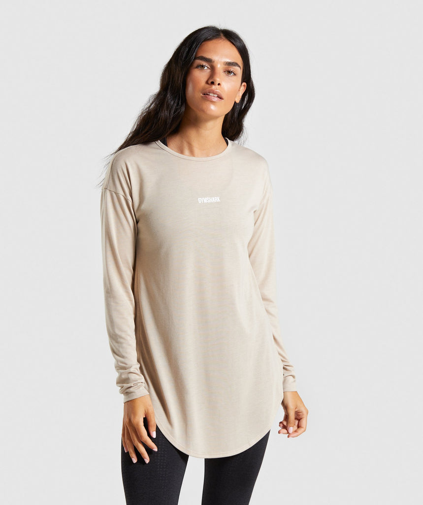 Gymshark Ark Long Sleeve Top - Sand 1
