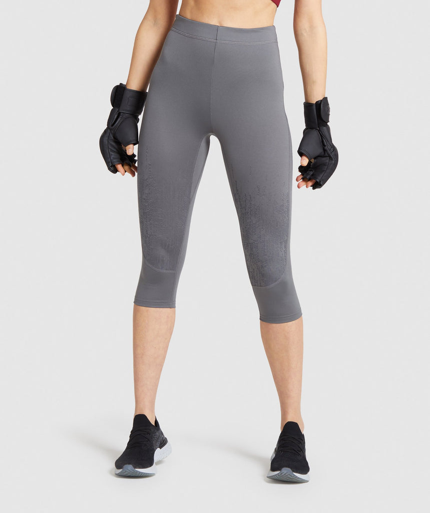 Gymshark Combat Cropped Leggings - Smokey Grey 1