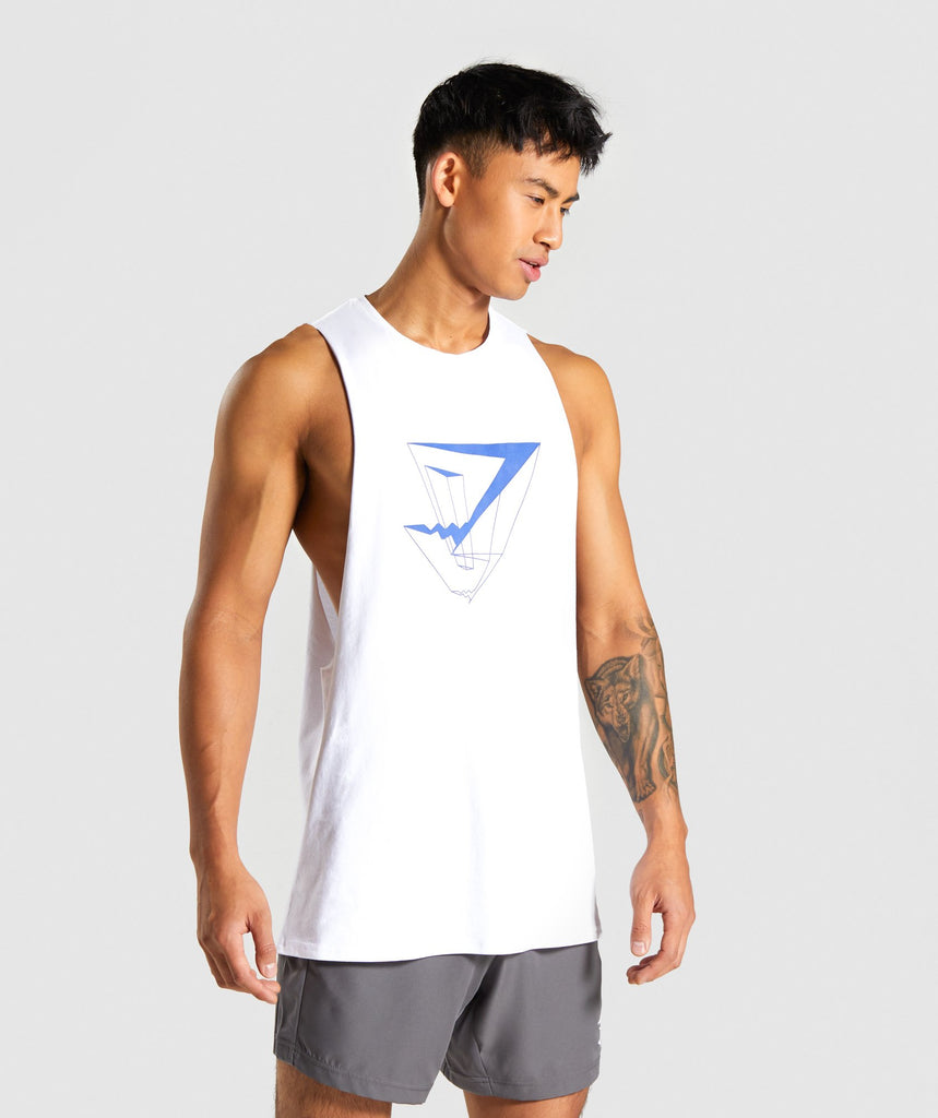 Gymshark Dimension Tank - White 1