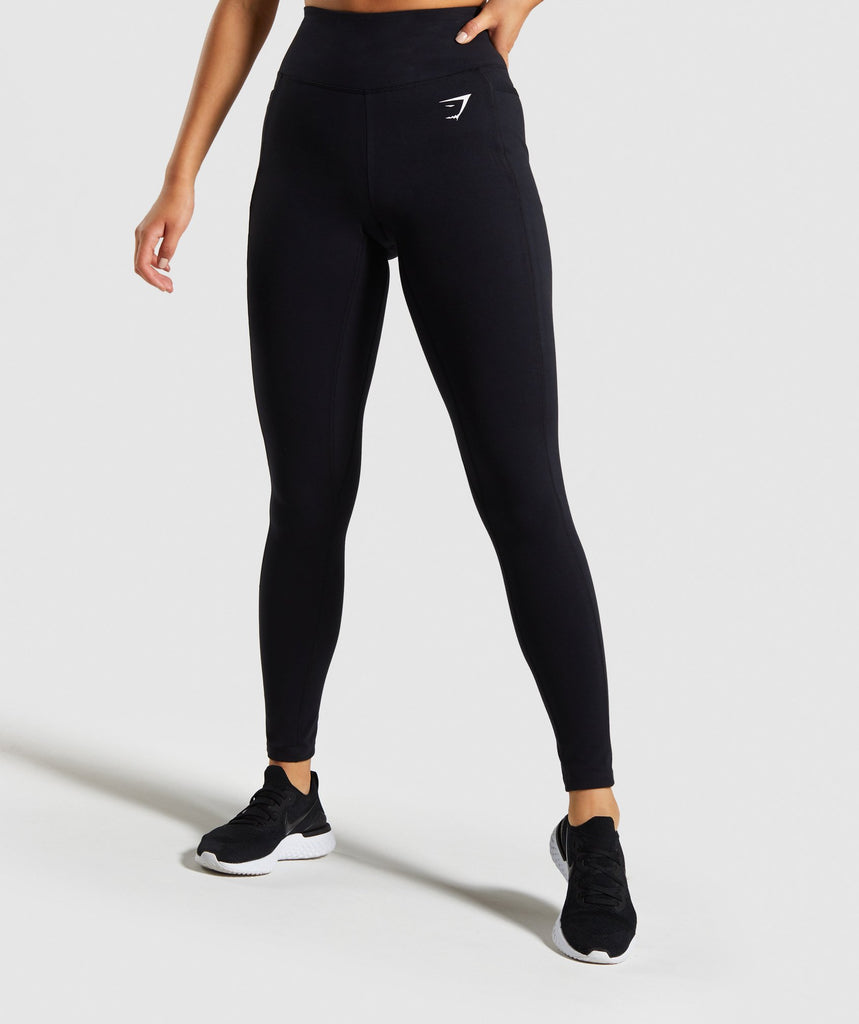 Gymshark Dreamy Leggings - Black/White 1