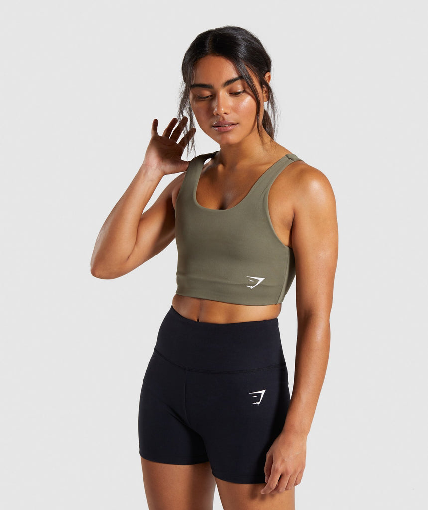 Gymshark Dreamy Sports Bra - Khaki 1