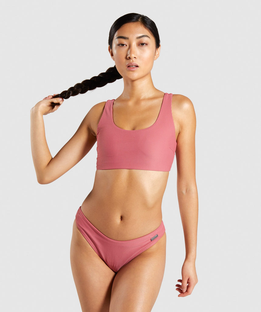 Gymshark Essence Bikini Top - Rose Slate 1