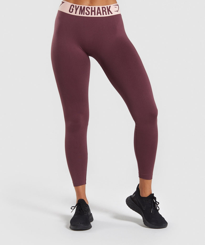 Gymshark Fit Leggings - Berry Red/Pink 1