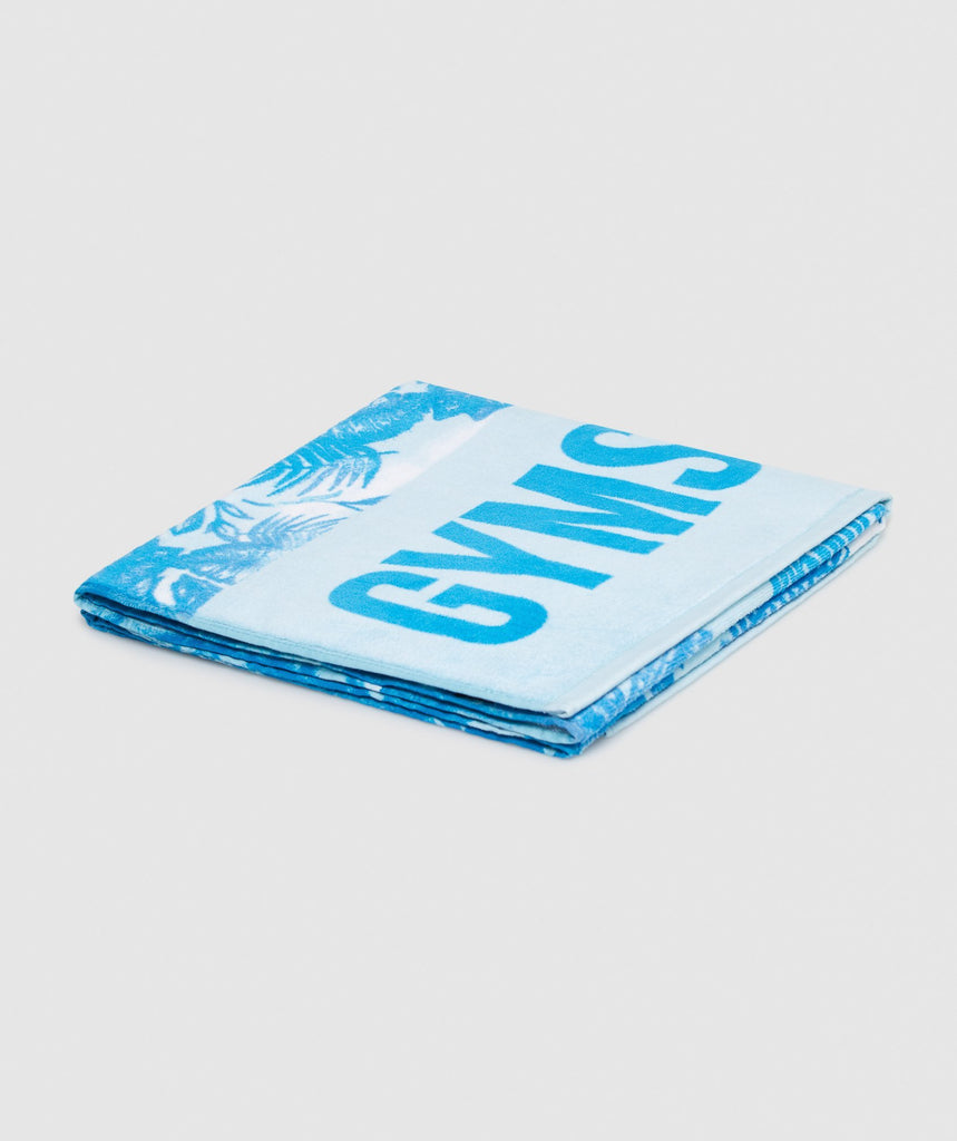 Gymshark Horizon Beach Towel - Blue 1