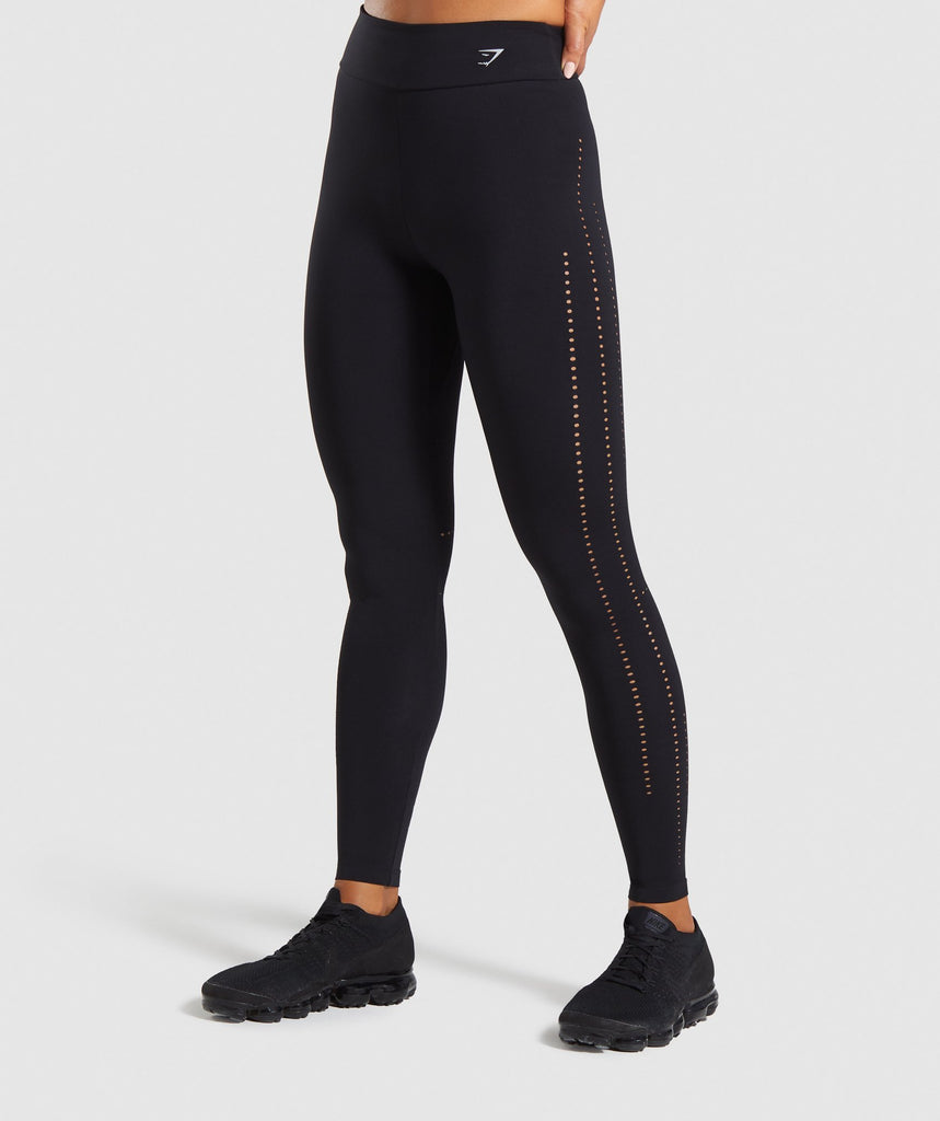 Gymshark Laser Cut Tights - Black 1