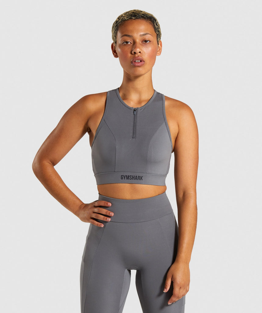 Gymshark Non Stop Sports Bra - Grey 1