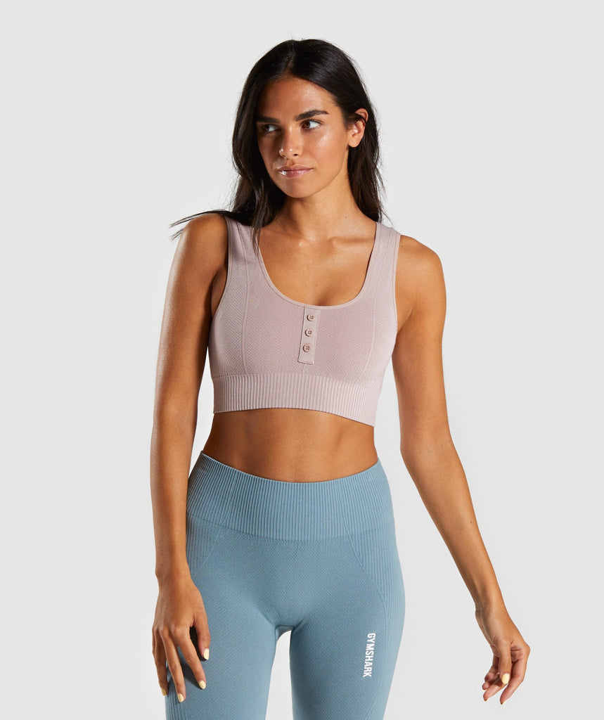 Gymshark Power Down Croplette - Taupe 1
