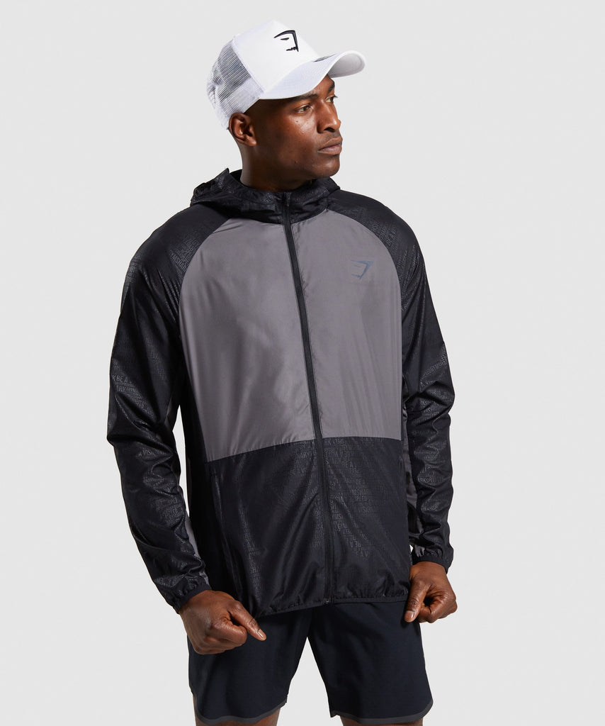 Gymshark Speed Running Jacket - Black 1