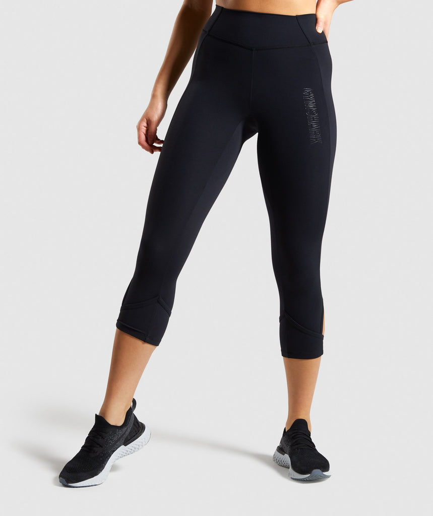 Gymshark Studio Cropped Leggings - Black 1