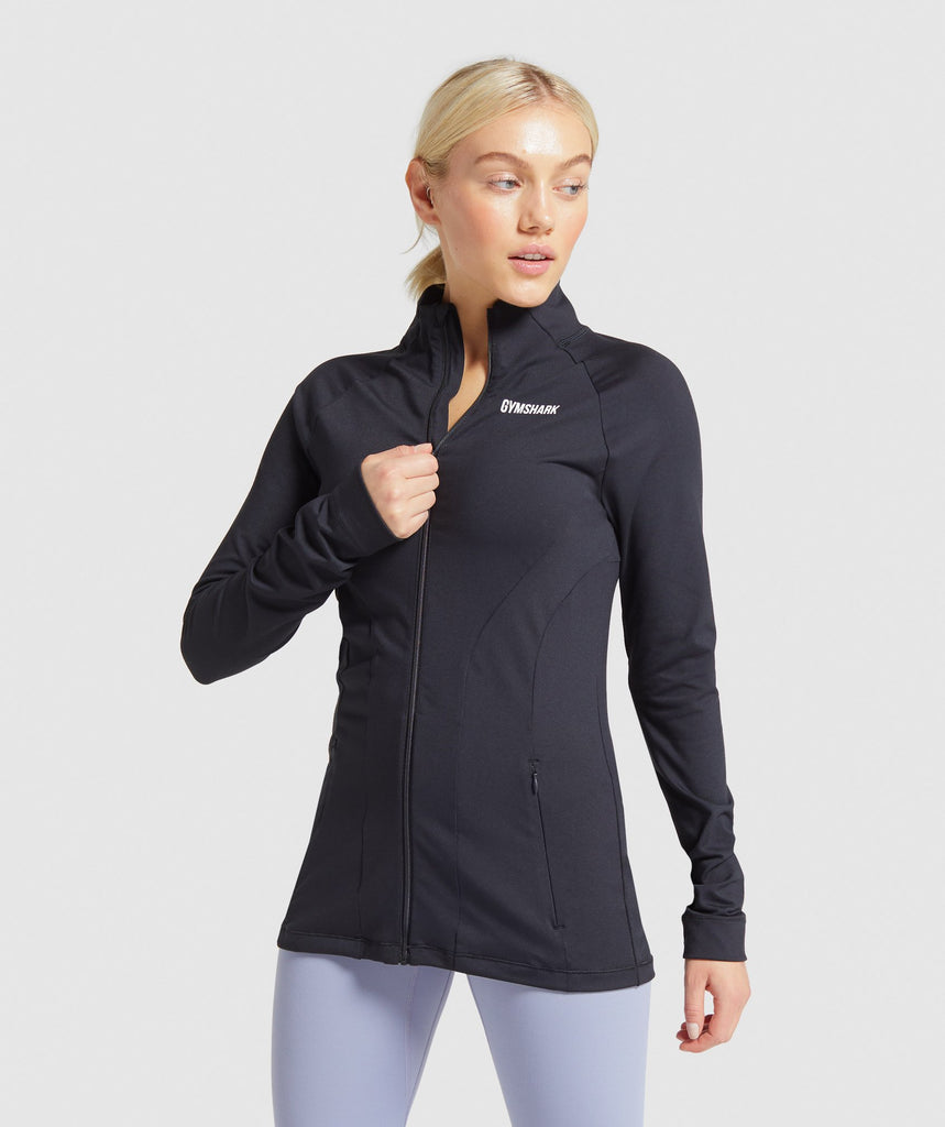 Gymshark Training Zip Up Jacket - Black 1