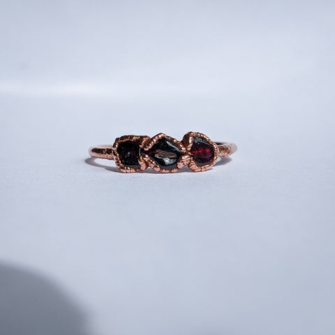 Garnet Trio Ring - Size 10