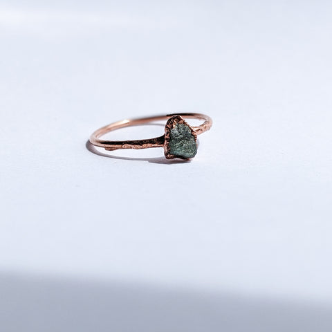 Raw Emerald Ring - Size 5.5 - Private Listing - Reserved for Afra