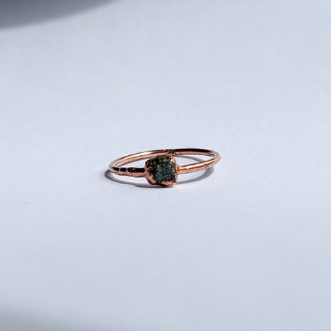 Raw Emerald Ring - Size 5.25