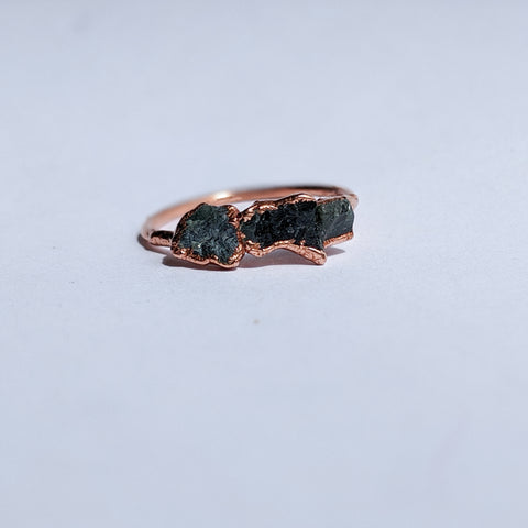 Raw Emerald Ring - Size 7