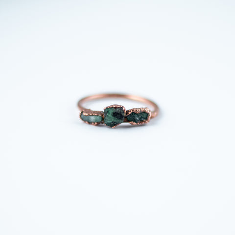 Emerald Trio Ring - Size 8.5