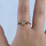 Peridot Trio Ring - Size 7.75