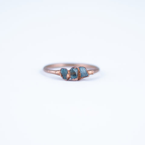 Aquamarine Trio Ring - Size 7.25
