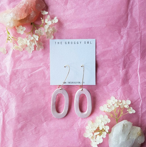 """Rose Quartz"" Clay Earrings 3"