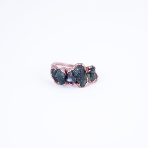 Raw Emerald Ring - Size 7.5